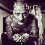 black_V_tattoo Pavlov on My World.